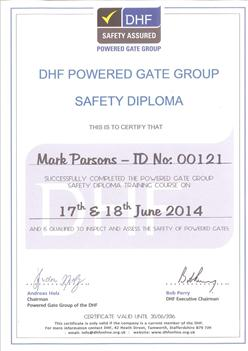 Certificate and Diploma - DHF